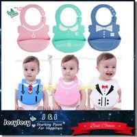 Wholesale Lovely Baby Bibs Waterproof Silicone Feeding Infant Saliva Towel Newborn Cartoon Aprons Baby Food grade Silicone Bibs