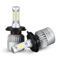achat en gros de projecteur ampoule h7-H4 H7 H1 H1 H13 H3 9004 9005 9006 9007 9012 COB LED Ampoule de phare de voiture Hi-Lo Faisceau 72W 8000LM 6500K Phare automatique 12v 24v Voiture Phares antibrouillard