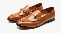 Wholesale New fashion loafer horsebit flat shoes leather casual shoes