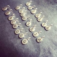 alphabet letter stamps - Personalized Initial Charms from A Z Hand Stamped Alphabet Letter Charms Tag Pendant dijes de iniciales for DIY Jewelry