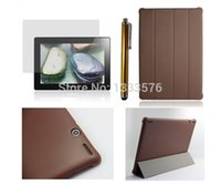 For Lenovo Business 7'' Wholesale-HOT! high quality Luxury Slim PU Leather Case Cove For Lenovo S6000 10.1 inch Tablet PC + Stylus+ screen protection film