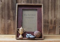 basketball photo frame - 6 quot Originality Basketball Vintage Picture Frame Hand Made Rasin Home Decor Birthday Gifts Photo Collection X30 B