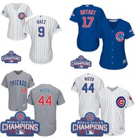 Wholesale 2016 World Series patch Men Chicago Cubs Javier Baez Kris Bryant Rizzo women baseball jerseys