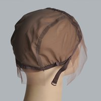 Wholesale High Quality Lace Wig Caps for Making Wigs Medium Size Medium Brown Color Lace Wig Cap
