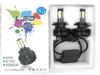Wholesale Munnufacturer W lm Cob led motorcycle headlight bulb DC V White motorcycle headlamp S5 Size Brightness