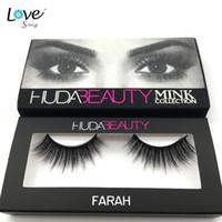 beauty human - Huda Beauty False Eyelashes styles Messy Cross Thick Natural Fake Eye Lashes Professional Makeup Bigeye Eye Lashes Handmade