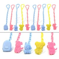 Wholesale Cute Baby Infant kids Dummy Pacifier Soother Chain Clips Holder Toddler Toy