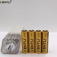 Rechargeable alkaline aa battery - 4pcs KENTLI v AA PM5 mWh Rechargeable Li ion Li polymer Lithium battery slots USB smart AA AAA Flashlight Charger