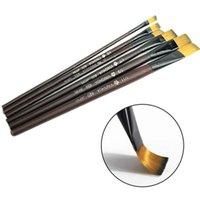 Wholesale Set Nylon Hair Acrylics Art Paint Brush Set Gouache Watercolor Oil Painting Brush Set Different Size