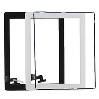 Wholesale Touch Screen Glass Panel with Digitizer Buttons Adhesive for iPad Black and White DHL