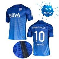 Wholesale Boca soccer jersey maillot de futebol thai quality CARLITOS Men tops blue football shirts custom jerseys uniforms