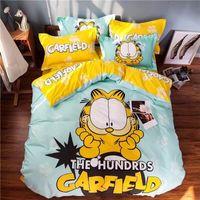 Wholesale Garfield Pieces Bedding Sets Kids Bedding Sets Children Bedding Warm Home Textiles Duvet Cover Sets Queen Size