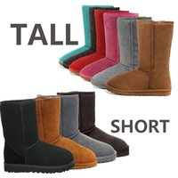 Wholesale Famous Boots winter warm shoes classic snow boots Sheepskin ladies boots for womens colors choices