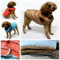 Wholesale pet fashion outerwears winter dog warm coat szie S M L XL pets clothes whole sale promotion puppy apparel