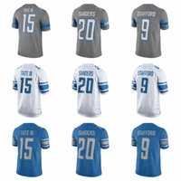 Wholesale 2017 Steel Color Rush Limited Football Jersey Barry Sanders Matthew Stafford Golden Tate III New Blue Elite Stitched Cheap Jersey