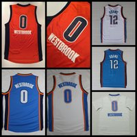 adams shirt - 2017 New Russell Westbrook Basketball Jerseys Orange Russell Westbrook Steven Adams Shirts Stitched Basketball Jersey Cheap Mens S XXL