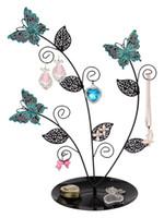 antique metal display rack - Jewellery Display Stand New Antique Silver Bronze Birds Tree Earring Necklace Bracelets Jewelry Holder HangingOrganiser Rack Tower Butterfly