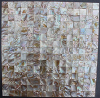 Wholesale Square Brown Groutless Mother of Pearl Shell Tile Slabs for Bathroom or Kitchen Wall Tiles
