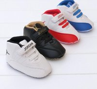 Wholesale Cheap kids fashion shoes boys and girls toddler shoes non slip months BB soft bottom PU casual shoes in stock pair B