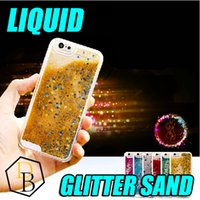 Wholesale For iphone plus case New Hot selling luxury glitter stars dynamic liquid quicksand phone case cover for note7 s6 s7 edge