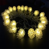 antique red lamp - white Luminaria m led lamps Antique Xmas LED String Light Pinecone Garland Home Garden Wedding Decoration