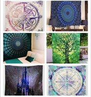 Wholesale Indian Decor Mandala Tapestry Wall Hanging Hippie Throw Bohemian Queen Bedspread Towel Yoga Mat DIY Art Home Decorations