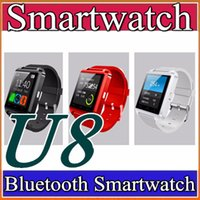 Wholesale 30X Bluetooth Smartwatch U8 U Watch Smart Watch Wrist Watches for iPhone S S Samsung S4 S5 Note Note HTC Android Phone Smart A BS