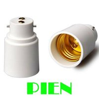 Wholesale B22 to E27 Lamp holder Adapter Base Socket Converter for LED Light Bulb High quality
