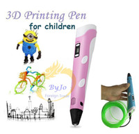 Wholesale 3D Printing Pen mm ABS PLA Smart D Pen Drawing Pen D Free Filament Design Painting D Stereoscopic Printing Pen