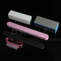 Wholesale 5Pcs Professional Nail Rectangular Files Brush Nail Art Set Manicure Tools Kit