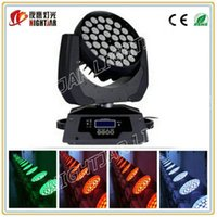 Wholesale RGBW w in1 led moving zoom head light Professional disco lights led w moving head zoom led moving heads stage lighting