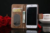 Wholesale luxury brand fashion leather Wallet case for apple iphone plus s plus samsung galaxy s6 s7 edge note good quality