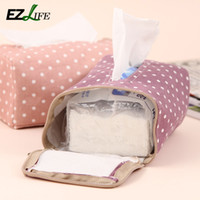 Wholesale Creative Table Decoration Cotton Tissue Boxes Candy Color Dot Storage Tissue Case Facial Tissue Home Living Room Supplies KT0454
