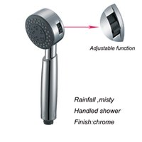 Wholesale SPA Hand Held Bathroom Shower Head Rainfall Misty Two Functions Hand Shower Chrome Handled Shower Round Shape