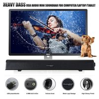aux power - NEW HEAVY BASS USB SOUNDBAR SPEAKER MINI SOUND BAR COMPUTER SPEAKER WITH USB AUX IN AUX OUT SLIMLINE DESIGN OUTPUT POWER WATTS