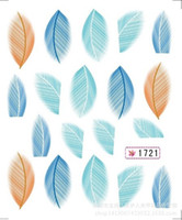 Wholesale 10 styles Hot Beauty Nail Art Water Transfer Sticker Tips Feather Rainbow Dreams Decal DIY for mon girlfriend birthday giftt