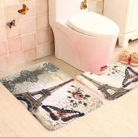 as pic bathroom rugs - Soft Paris Eiffel Tower Bath Pedestal Rug Cover Bathroom Bath Mat Set Household Bathroom Carpets Design Decor Houseware