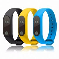 Wholesale Heart Rate Sport smart wristband OLED monitor bluetooth watch men silicone waterproof smartband for Android IOS DHL Free M2 M3