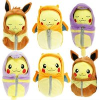 Wholesale NEW FASHION pc pikachu Charizard Eevee Ekans Sleeping bag Pikachu plush toy doll cosplay