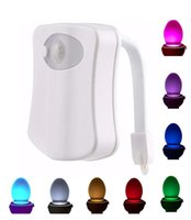 Wholesale Toilet Nightlight Motion Activated Led Toilet Bowl Lighting with Colors Changing Light Suitable for Any Toilets Bathroom Washroom
