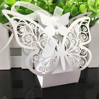 baking supplies boxes - New Wedding Favor Laser Cut Wedding candy boxes Gift Bags DIY Baby Shower Boxes For Wedding Decoration Supplies many colors