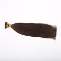Les extensions de cheveux de la forme de la kératine noire les plus sombres pré-lié, je pose les extensions de cheveux droites Indian Remy, les cheveux humains 16-26 pouces disponibles