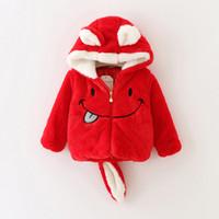 baby windbreaker jacket - Baby Kids Clothing Outwear girls coat winter Christmas Fleece Hooded long sleeve Red coats jacket Children s jackets windbreaker