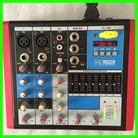 Wholesale New Mini RMV4 USB Ch DJ Mixer For Stage Home Karaoke V Phantom Band Graphic EQ
