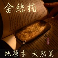 Wholesale Gold rimmed nanmu bookmark