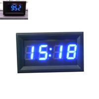Wholesale New Hot Universal Car Motorcycle Accessory V V Dashboard LED Display Digital Clock Freeshipping