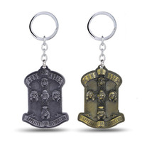 band pc games - 12 GnR Guns N Roses Key Chain Music Band Key Rings For Gift Chaveiro Car Keychain Jewelry Game Key Holder Souvenir YS11099