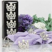Wholesale Wedding Table Decoration Party Supplies Silver Crown Napkin Rings Unique Gifts