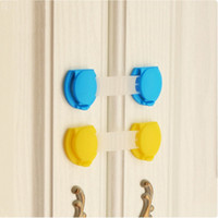 Wholesale 2pcs Cabinet Lock Door Drawers Refrigerator Plastic Lock For Child Kids Baby Safety Cabinet Lock