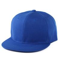 Precio de Sombreros de béisbol en blanco snapback-Sombrero clásico del Snapback Casquillo en blanco ajustable Gorra ajustable de Hip Hop Casquillos coloridos para el hombre y la mujer